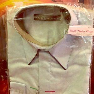 Men's Mansenee Satin French Cuffs Dress Shirt